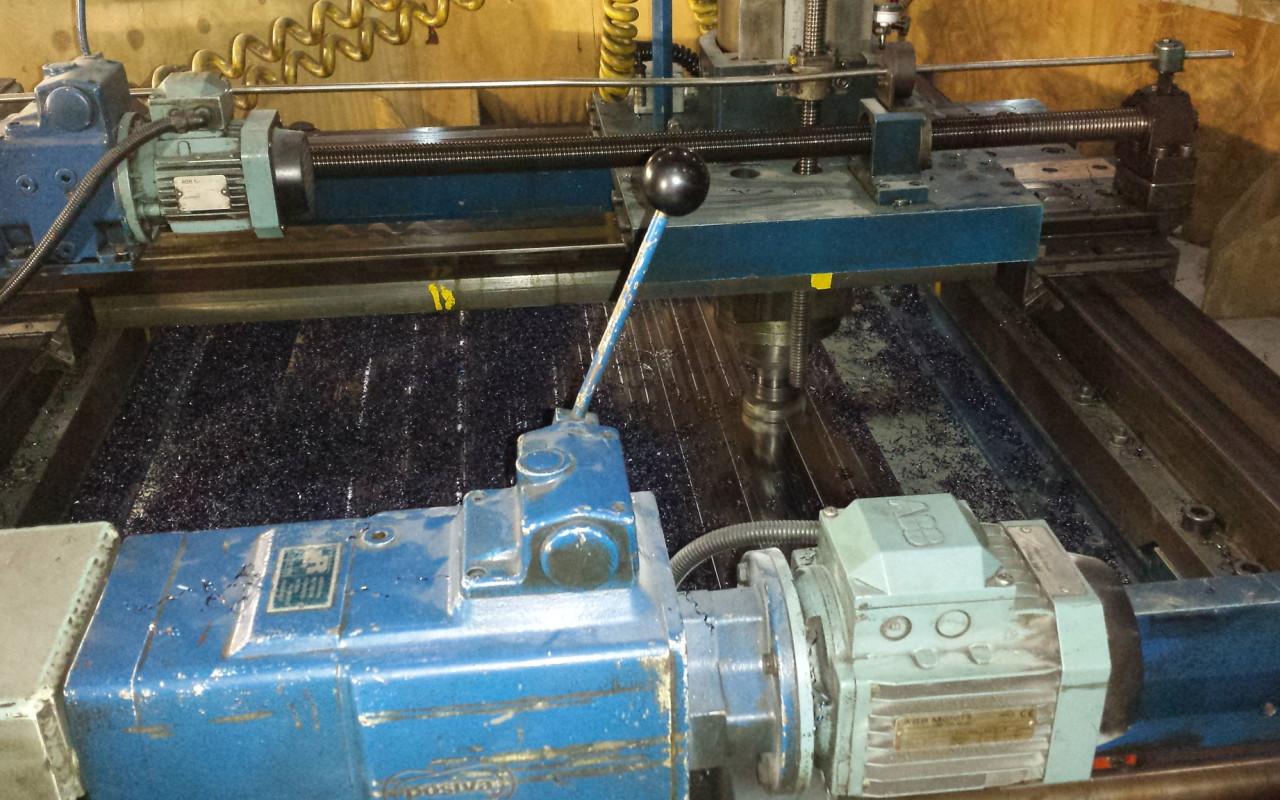 On-site machining frezen van afdichtingsvlakken